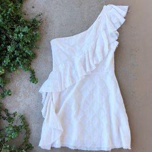 Like New Tularosa Cream One Shoulder Dress M